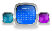 Calendario ottobre 2011 — Foto Stock