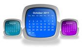 Calendar for october 2011 — Stock Photo
