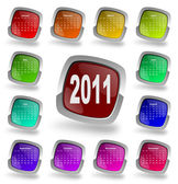 Calendar for year 2011 — Stock Photo