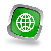 Globe icon — Stock Photo