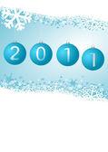 New year winter illustration — Stock Photo