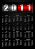 2011 New Year counter calendar — Stock Photo