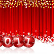 2011 new year illustration with christmas balls — Stock Photo