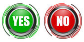 Yes and no glossy button set — Stock Photo