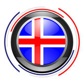 Iceland glossy icon — Stock Photo