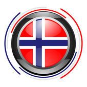 Норвежский глянцевый значок — Стоковое фото