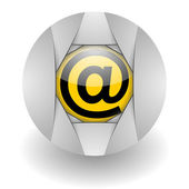 E-mail steel glosssy icon — Stock Photo