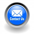 Contact us steel glosssy icon — Stock Photo #5197989