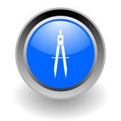 Estudio de acero glosssy icono — Foto de Stock