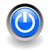 Power steel glosssy icon — Stock Photo