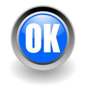 Ok steel glosssy icon — Stock Photo