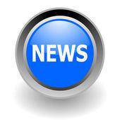 News steel glosssy icon — Stock Photo