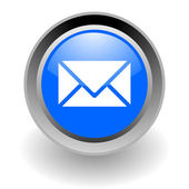 Mail steel glosssy icon — Stock Photo