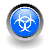 Biohazard steel glosssy icon — Stock Photo
