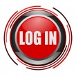 Stock Photo: Log in glossy icon