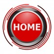 Home glossy icon - Stock Photo