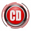 Stock Photo: Cd glossy icon