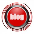 Blog glossy icon - Stock Photo