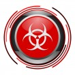 Biohazard glossy icon — Stock Photo