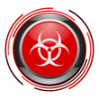 Biohazard glossy icon — Stock Photo #5211448