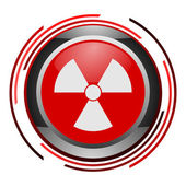 Nuclear glossy icon — Stock Photo