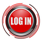 Log in glossy icon — Stock Photo