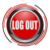 Log out glossy icon — Stock Photo