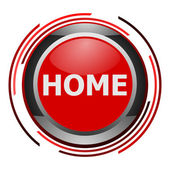 Home glossy icon — Stock Photo