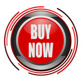 Buy now glossy icon — Stock Photo