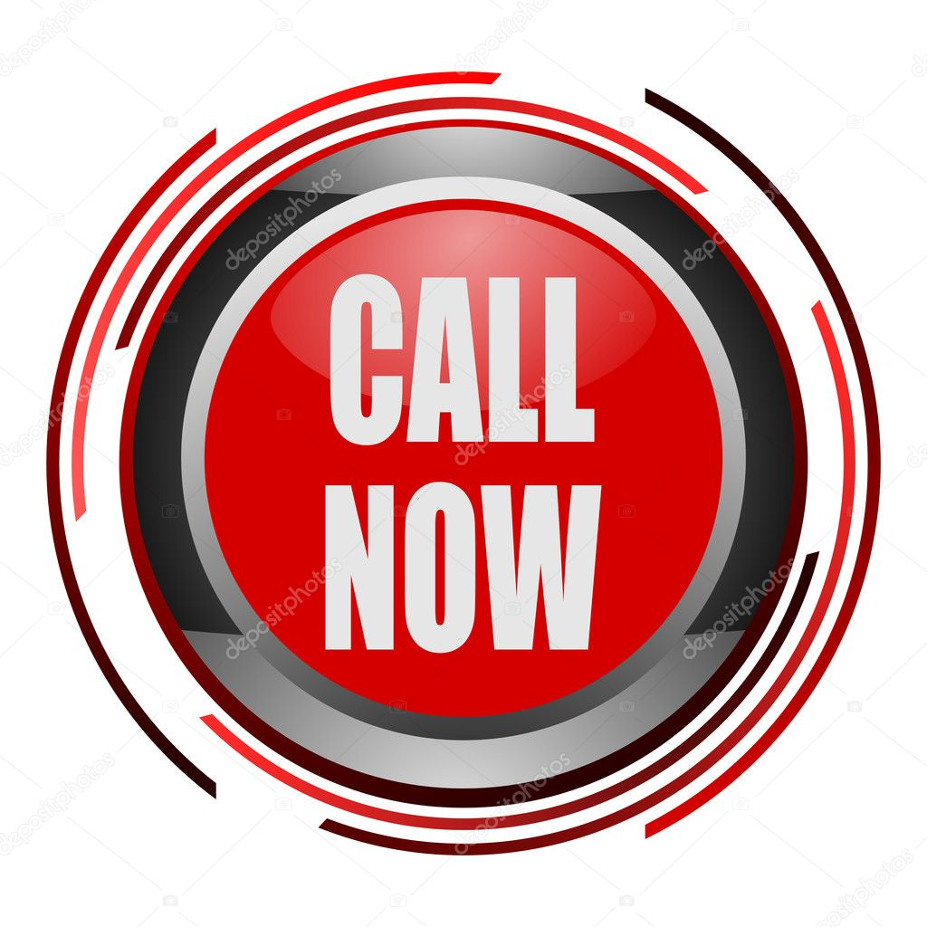 Call now glossy icon — Stock Photo #5211449
