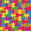 Puzzles background — Stok Vektör #4337057