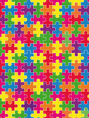 Puzzels achtergrond — Stockvector