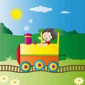 Kids dream — Stock Vector