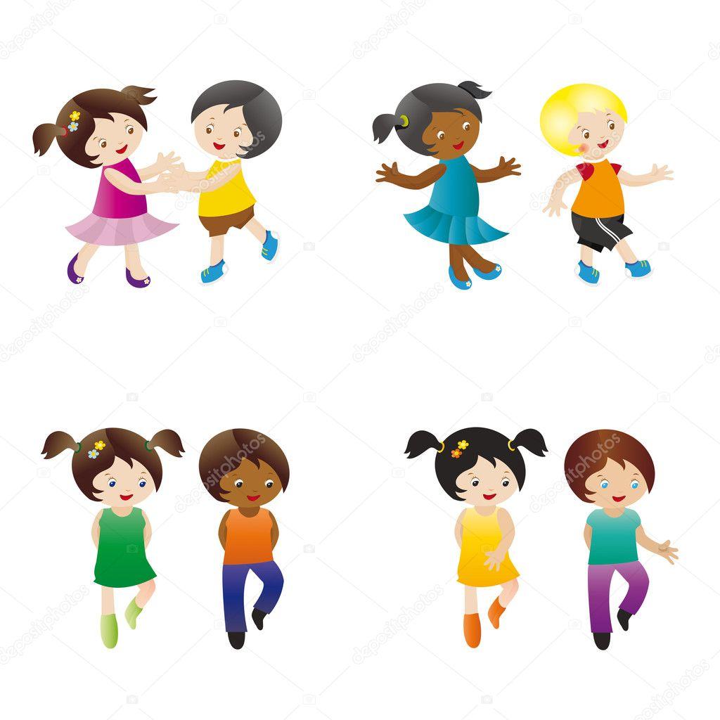 Dancing Kids Stock Vector 169 Justaa 4403793