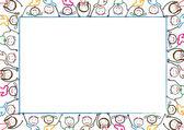 孩子们帧 — 图库矢量图片