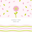 Vector de stock : Floral card