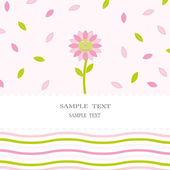 Floral card — Stock Vector