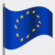 Royalty-Free Stock Vector Image: European flag, vector