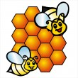 Vector bee and honeycombs — Stock Vector #3926446