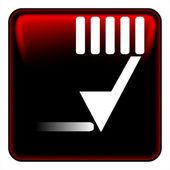 Stift schaltfläche vektor — Stockvektor