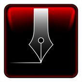 Vector de botón de la pluma — Vector de stock