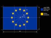 Construction drawing European flag, vector — Stock Vector