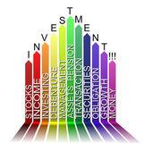 Colorful MARKETINGtext barcode, vector — Stock Vector