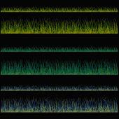 Grama backgrounds, vector isolado sobre gr e fundo branco — Vetorial Stock