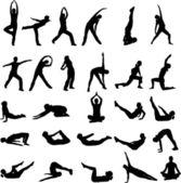 Chica haciendo ejercicio — Vector de stock