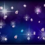 Background with diamonds — Stock Vector