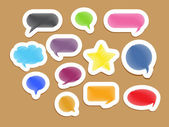Vector web icons on stickers — Stock Vector