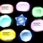 Vector abstract trendy bubbles — Stock Vector