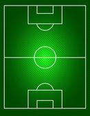 Fútbol en un campo de fútbol — Vector de stock