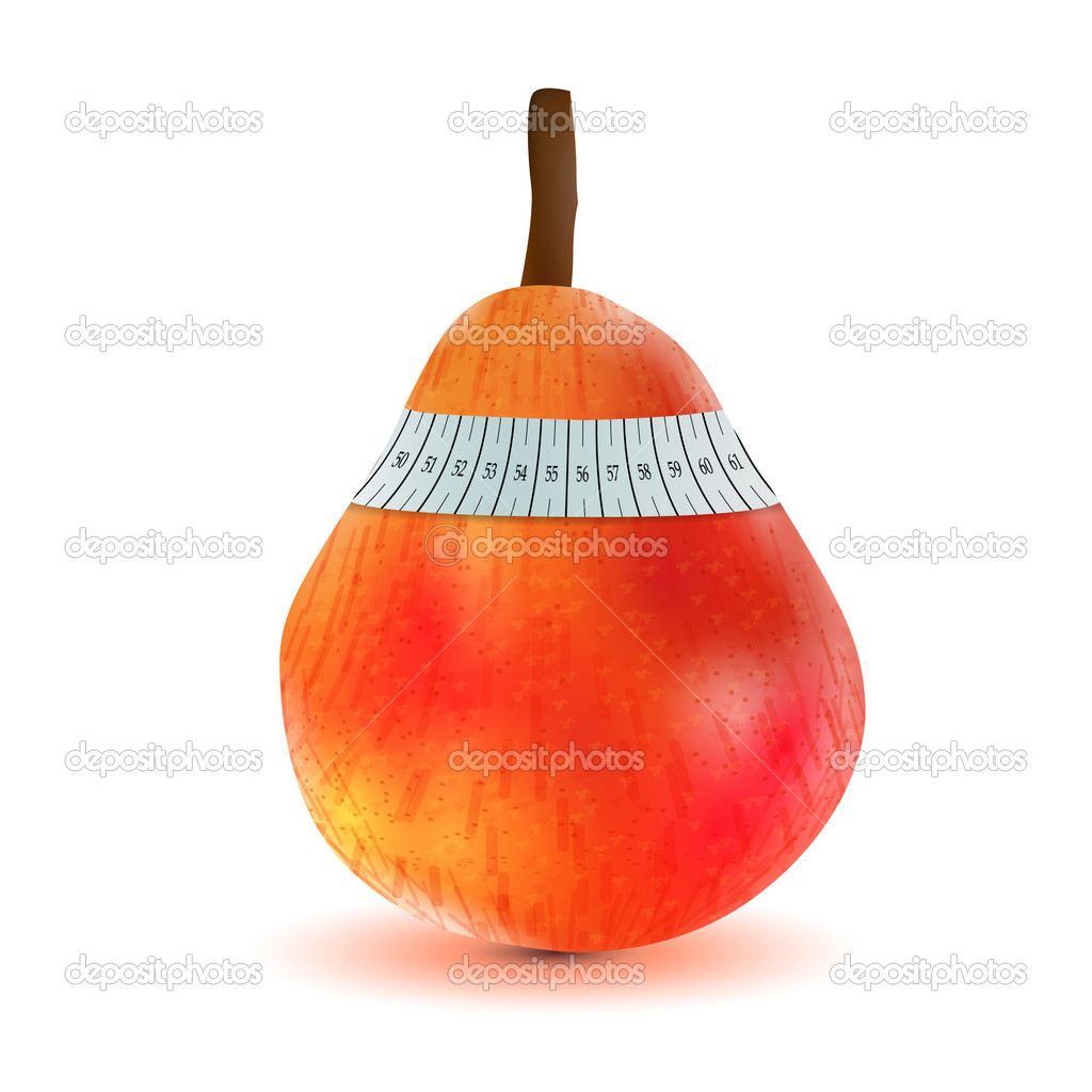Pear and measuring tape  Stock Vector #5216253